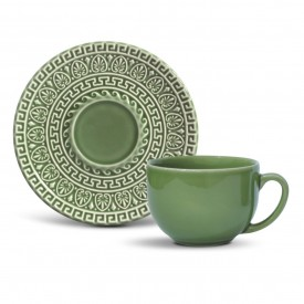 xicara cha salvia verde greek 36333001 porto brasil casa cafe e mel