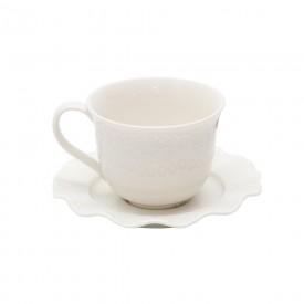 xicara de cha com pires lyor princess branco 8206 a casa cafe e mel
