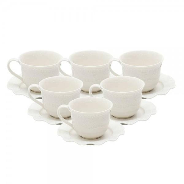 xicara de cha com pires lyor princess branco 8206 c casa cafe e mel