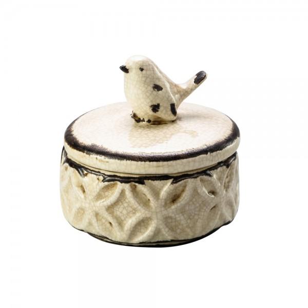 porta joias bird ceramica creme lyor 3294 a casa cafe e mel