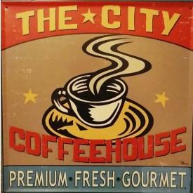 placa decorativa the city casa cafe e mel