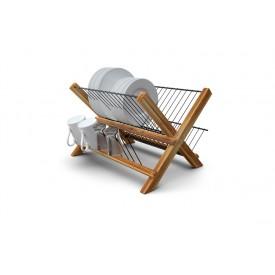 escorredor dobravel madeira teca 607 stolf casa cafe e mel