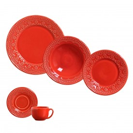 aparelho de jantar madeleine vermelho porto brasil casa cafe e mel