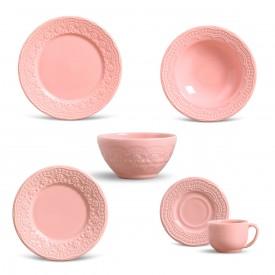 aparelho de jantar madeleine rosa 36 pcs porto brasil casa cafe e mel