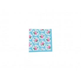 guardanapo de papel rosas fundo azul casa cafe e mel 10