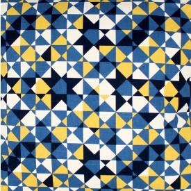 jogo americano de tecido agata cortbras geometria azul com amarelo 7518 casa cafe e mel