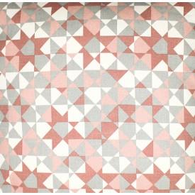 jogo americano de tecido agata cortbras geometria rose com cinza 7508 casa cafe e mel