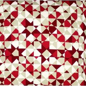 jogo americano de tecido agata cortbras geometria vermelho com bege 7513 casa cafe e mel