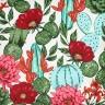 jogo americano de tecido aquamarine cortbras cactos 498 casa cafe e mel