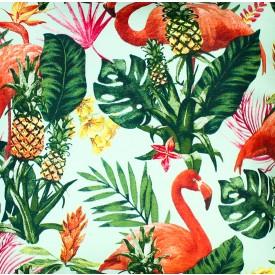 jogo americano de tecido aquamarine cortbras flamingos 507 casa cafe e mel