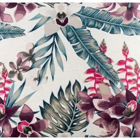 jogo americano de tecido garden cortbras flores e folhas rose 4008 casa cafe e mel