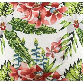 jogo americano de tecido garden cortbras flores e folhas verde 4007 casa cafe e mel