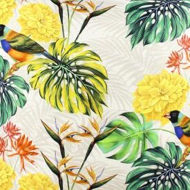 jogo americano de tecido trancoso cortbras flores amarelas 2406 casa cafe e mel