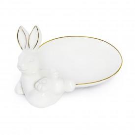 pratinho decorativo porcelana coelho 1820119 cromus casa cafe e mel
