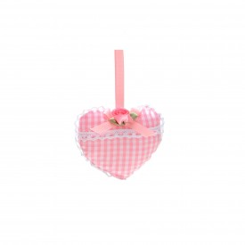 sache perfumado coracao cromus xadrez rosa casa cafe e mel