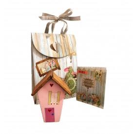 casinha madeira rosa casa cafe e mel