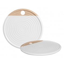tabua de servir ceramica redonda 83 427stan silveira casa cafe e mel