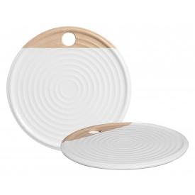 tabua de servir ceramica redonda 83 428stan silveira casa cafe e mel