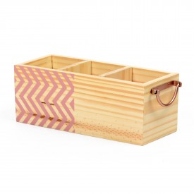 porta talheres em madeira com alca de ferro zig zag rosa 18847r decor glass casa cafe e mel