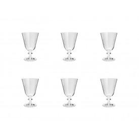 taca para vinho cristal bella folhas 6 pecas 350ml 35321 rojemac casa cafe e mel