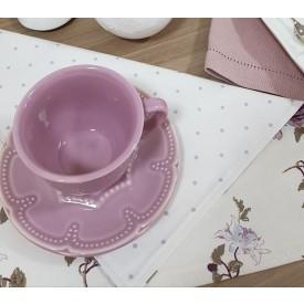 jogo americano dupla face amora casa floral poa lilas casa cafe e mel