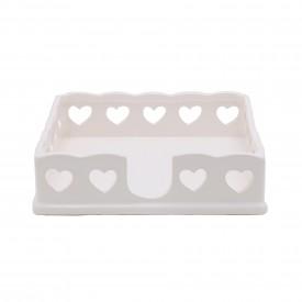 porta guardanapo de papel ceramica coracao branco 8098 lyor casa cafe e mel 1