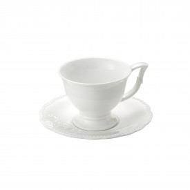 xicara de cafe porcelana super white queen 8560 lyor casa cafe e mel