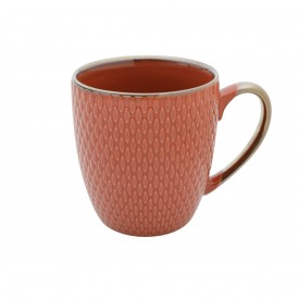 caneca porcelana laranja 27620 bon gourmet casa cafe e mel 1