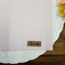 guardanapo de tecido tricoline amora casa zig zag rosa casa cafe e mel