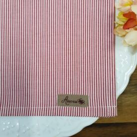 guardanapo de tecido 6 pecas amora casa listras vermelhas casa cafe e mel