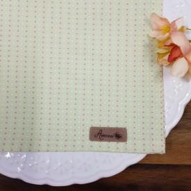 guardanapo tecido 6 pecas amora casa verde poa rosa casa cafe emel