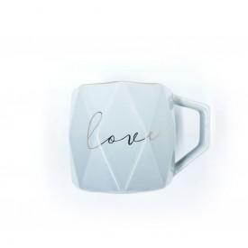 caneca porcelana love com filetes dourados cinza claro dec02404 casa cafe e mel 1