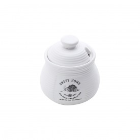 acucareiro porcelana sweet home com tampa branco 25020 bom gourmet casa cafe e mel 1
