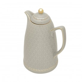 garrafa termica porcelana 900ml cinza 35493 wolff casa cafe e mel 1