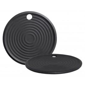 tabua de servir ceramica redonda preto g 05 428 silveira casa cafe e mel