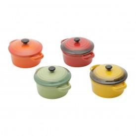 jogo mini panelas de porcelana com tampa 4 pecas 30396 bon gourmet casa cafe e mel 4