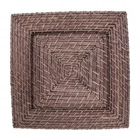sousplat quadrado rattan marrom claro 9109c gzt casa cafe e mel