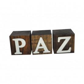 cubos de madeira decorativos paz 15991 marimar casa cafe e mel