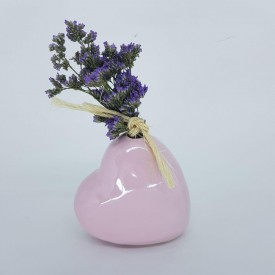 vaso decorativo ceramica coracao 022007 rosa casa cafe e mel 7