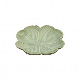 petisqueira de ceramica banana leaf grande verde 4314 lyor casa cafe e mel 1