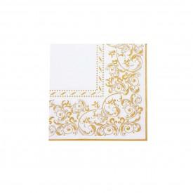 guardanapo de papel branco com detalhe dourado gp 064 casa cafe e mel 1
