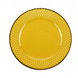 prato para sobremesa porcelana drops amarelo 17481 wolff casa cafe e mel 1