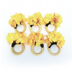 argola para guardanapo flores amarelo 22104 amora casa casa cafe e mel 1