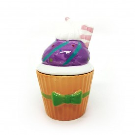 pote de porcelana cupcake com tampa laranja 73555 l casa cafe e mel 1