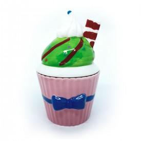 pote de porcelana cupcake com tampa rosa 73555 r casa cafe e mel 1