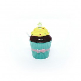 acucareiro cupcake porcelana com colher verde tiffany 73333 vt casa cafe e mel 1