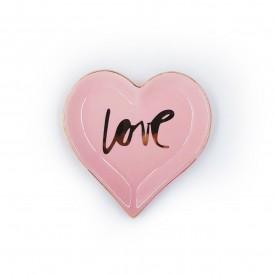 mini prato decorativo porcelana love rosa 24729 full fit casa cafe e mel