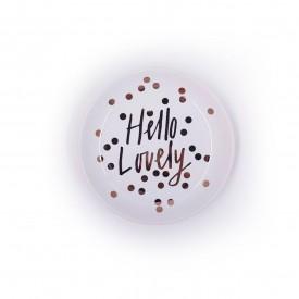 mini prato decorativo redondo de porcelana hello 73413 h casa cafe e mel
