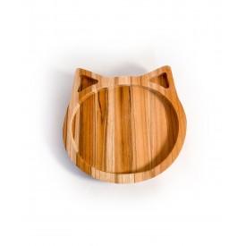 prato infantil de madeira teca gato 6635 wood love casa cafe e mel 1