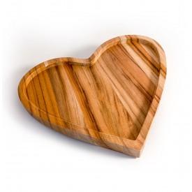 prato de madeira teca coracao grande 6629 wood love casa cafe e mel